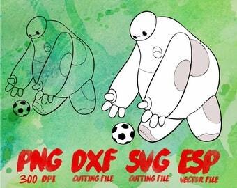 Disney Big Hero 6  Baymax Clipart , SVG Cutting , ESP Vectors files , T shirt , iron on , sticker ,Personal Use