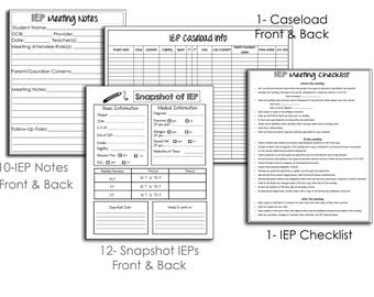 Extra Add On- Special Ed/Extra IEP Snapshots