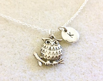 Personalized owl necklace owl gifts owl lover gift owl jewelry owl theme party favors owl favors owl gifts women owl pendant necklace