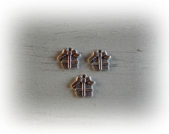 3 Pack gift - Christmas 16 * 15 mm silver plated charms