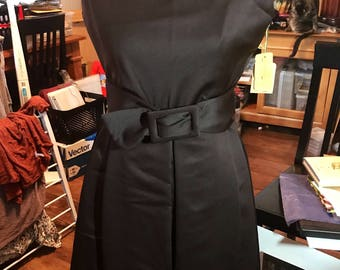 NEW 1960's Saks Fifth Avenue Polyester Belted Day Dress with Tags!