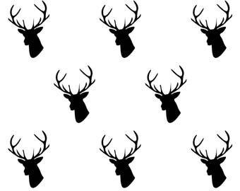 Stag Deer Head Reusable Plastic stencil