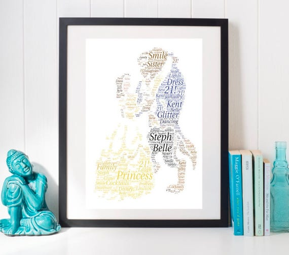 Framed Word Art Beauty And The Beast Disney