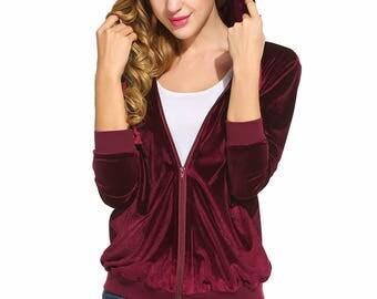 Women's Hoody Hoodie hooded sweatshirt Hoodie made of velvet