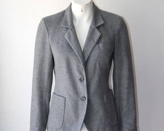 Vintage Grey Wool Blazer