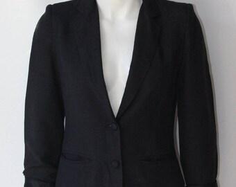Pant-Man Vintage Black Linen Blazer