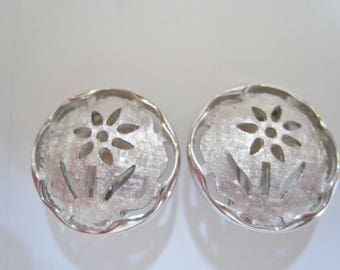 Sarah Coventry Silver Tone  Clip Earrings