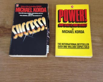 Vintage Pair of Michael Korda Books Success and Power - both in good condition. Motivational books