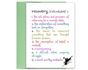 Recovery | Addiction Recovery | Positive Vibes | Addiction | Recovery Anniversary | Recovery from Addiction | Recovery Gift Kit | Sobriety