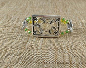 Flower Bracelet - yellow bracelet