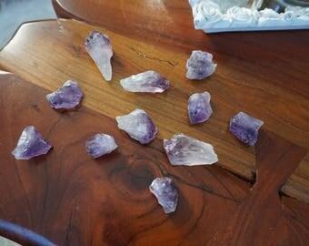 Raw Amethyst crystals