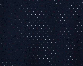 "Heart Printed Cotton Fabric, Black Color Fabric, Sewing Crafts, Decor Fabric, 42"" Inch Fabric By The Yard ZBC9307A"