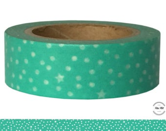 Washi Tape DOTS STARS turquoise