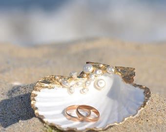 Seashell ring holder Etsy