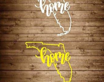 Florida Decal, Florida Sticker, Florida Home Decal, Florida State Decal, Home State Sticker, Home State Decal, Home Sticker, Car Decal
