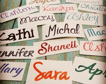 Name Decal, Word Decal, Name Sticker, Glitter Decal, Yeti Decal, Laptop Decal, iPhone Decal, Car Decal, School Supply Sticker