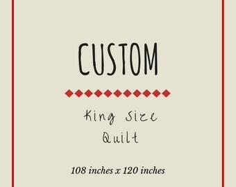Custom Rag Quilt: King Size