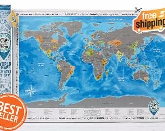 World Map With Scratch Off ORIGINAL From Manufacturer - Scratch world map us manaufacturuer