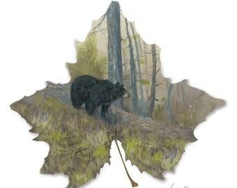 8x8 print Mother bear