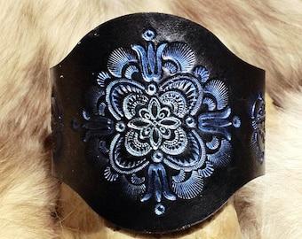 Leather Mandala Band Bracelet