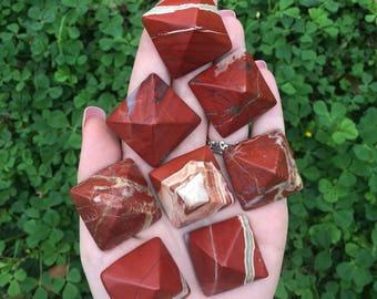 Red Jasper Pyramid (ONE)