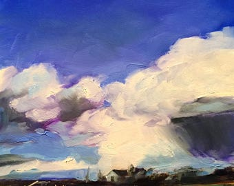 filled with beauty // landscape painting // original landscape // landscape art // sky painting // original art // original oil painting