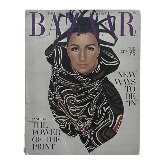 Harper's Bazaar, February 1967. Featuring Sharon Tate fashion spread, Princess Marcella Borghese cover story.