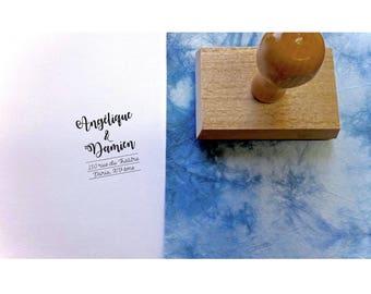 Stamp address angelic & Damien, custom address stamp, stationery, wedding address stamp, stamp custom stamp