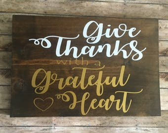SALE!! Give thanks with a Grateful Heart