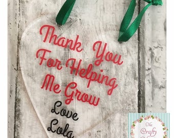 Thank you Hanging Heart for Teacher/Teaching Assistants