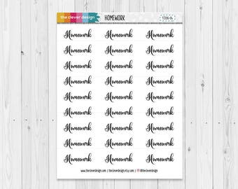 Homework Word Planner Sticker (17206-04)