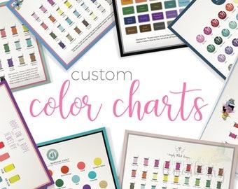 Custom Color Chart | Custom Color Samples Chart | Customized Color Palette | Custom Color Chart Listing Photo | Listing Image Help