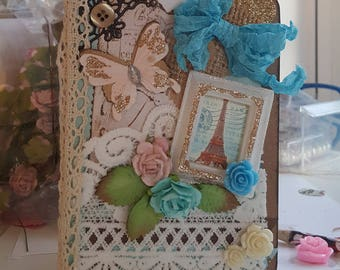 Mini Shabby Journal 64 Pages * Chic Paris Journal