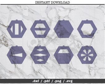Hexagon cut file,earrings,leather jewelry making,SVG, DXF,PNG,Cricut, Silhouette, cutting machine,vector graphic,explore,geometric shapes