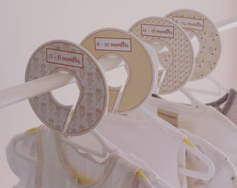 New Baby, Clothes Divider, Yellow and Grey, Baby Shower Gift