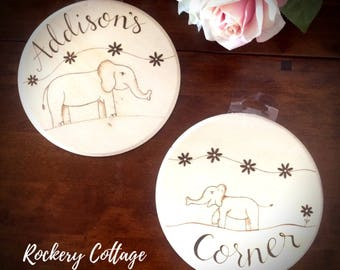 nursery wall decorations, baby room signs, nursery art, wood burned art, wood burned signs baby, wood nursery, custom signs, pyrography baby