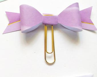 Planner Paper clips in Adorable Purple and Gold Foil, Planner Accessories,Planner Paperclips collection