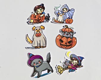 Halloween Chibi Die Cuts | perfect for travelers notebook decorations
