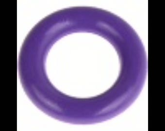Rattle and pacifier purple wooden ring