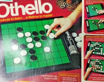 Vintage 1978 Othello 1978 Board Game COMPLETE has CHIP COVER Very Nice