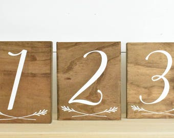 Wedding Table Numbers 1-10 • Place Cards  • Wedding Decor • Place Setting • Wedding Place cards • Wedding Party • Wedding Reception Table