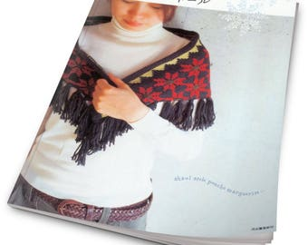 Shawl stole poncho marguerite-Japanese craft book- pattern - PDF - Instant Download