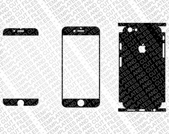 Iphone 6S Skin template for cutting or machining - 4 versions bundle pack - Digital Download - Cut Files for plotters and laser engravers