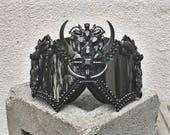 FREE SHIPPING! 'Kabuto Noir' Burning Man Goggles. Steampunk. Hugh Quality Ski Goggles. Dust Mask.