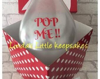 Pop me Surprise Balloon, Wedding/Pregnancy/Godparent/Birthday/Anniversary, Surprise Balloon, Surprise Confetti Gift,Pop Box Balloon