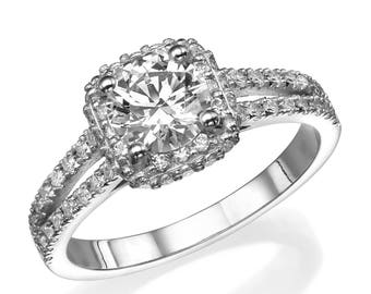 SALE! Affordable Diamond, Commitment Ring, Luxury Diamond Ring, Unique Ring, Round Cut Diamond Engagement Ring, Solitaire Ring, Simple Ring