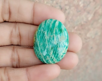 Warm sell 46ct Amazonite Natural Gemstone Super Quality AAA+++  Cabochon , Smooth, Pear Shape, 31x25x6mm Size, AM239