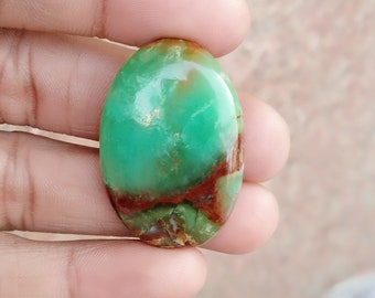 Warm sell 41ct Chrysoprase Natural Gemstone Super Quality AAA+++  Cabochon , Smooth, Oval Shape, 35x24x6mm Size, AM274