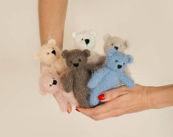 Newborn props toy | Knit bear toy  | Teddy Bear Photo Prop |  Stuffed Animal |  Bear stuffie | Bear Toy | Knitted bear | Knit bear toy