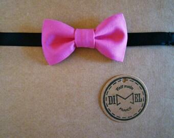Kid bow tie boy baby girl pink adjustable fuchsia to order